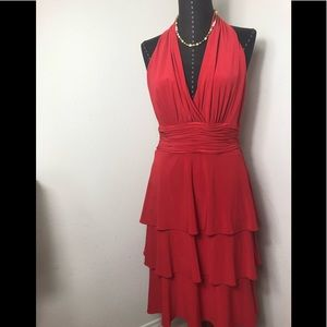 Evan Picone Red Cocktail Dress